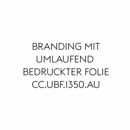 Branding mit umlaufend bedruckter Folie